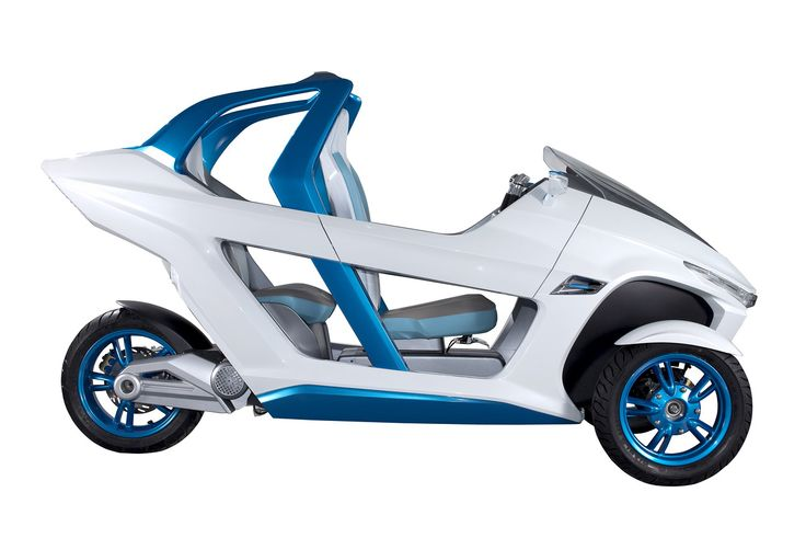 Sym Ex3 Concept The Tilting Three Wheeled Electric Scooter From Taiwan Mobil Konsep Mobil Listrik Mobil