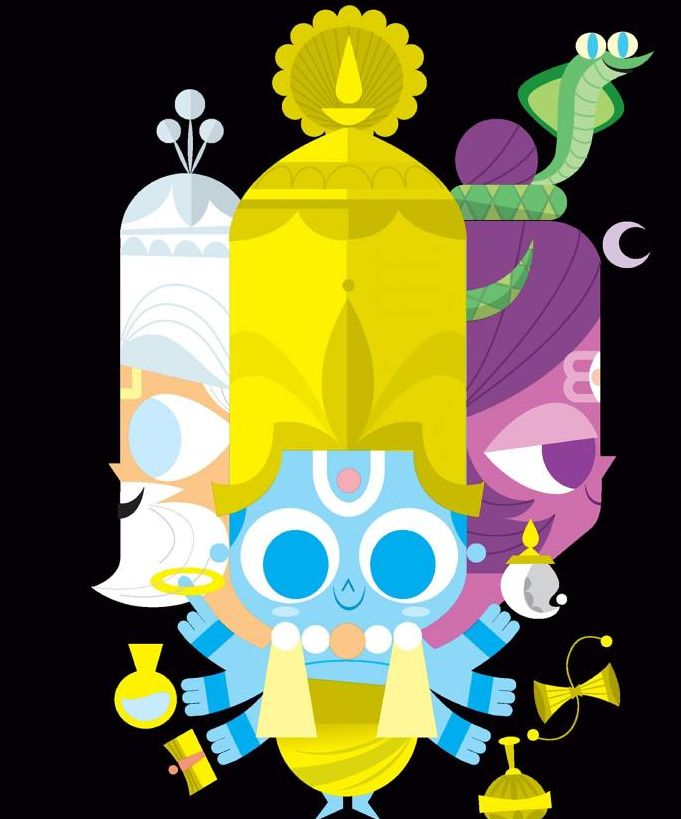 Learn about Sanjay Patel, the mastermind illustrator behind Ghee Happy and learn about indian deities.