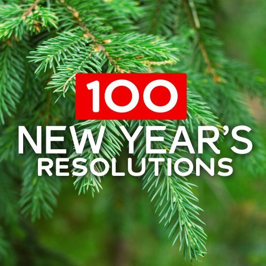 Great list of over 100 New Years Resolutions with resources to help you stick with them. If you have any trouble figuring out your New Years Resolution for this year, or just want some great inspiration to live a healthier and happier life, you need to check out this list. goal setting #goal
