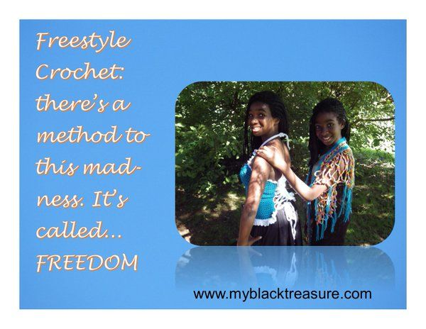 Freestyle crochet: there's a method to this madness. It's called... Freedom
