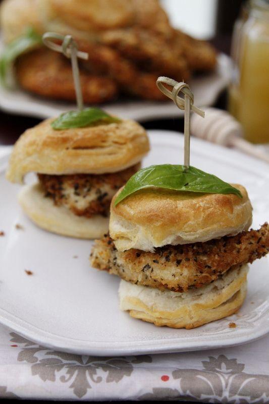 Parmigiano Panko Chicken Honey Biscuits | Recipe | The ...
