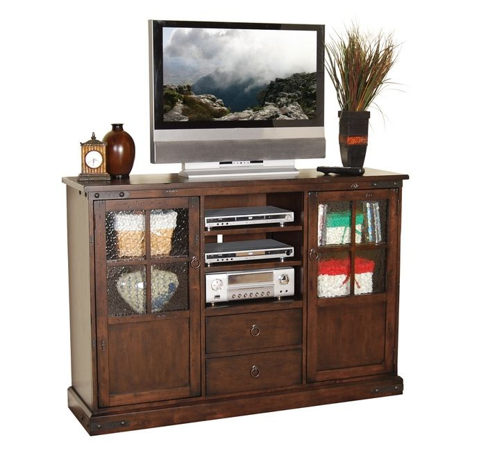 This Set Features TV Stand With Glass Front Doors For Media Units And 2  Side Cabinets And 2 Media Drawers. Measures X D X H. Some Assembly Required.