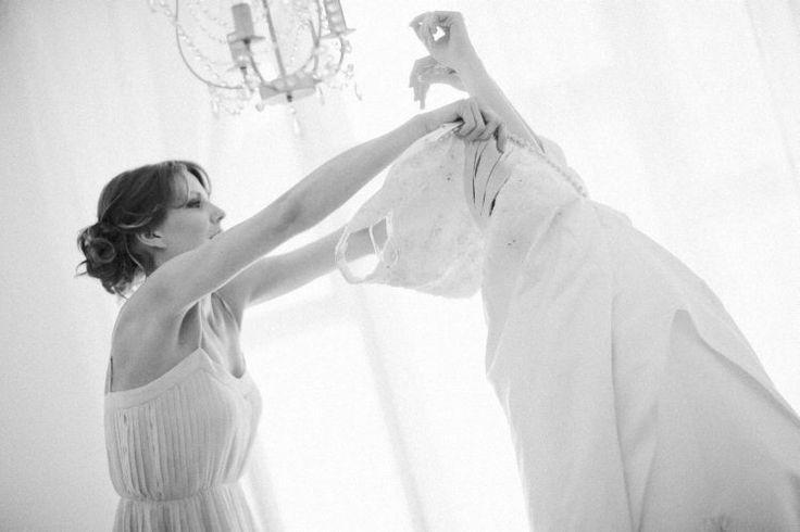 Bride getting ready.