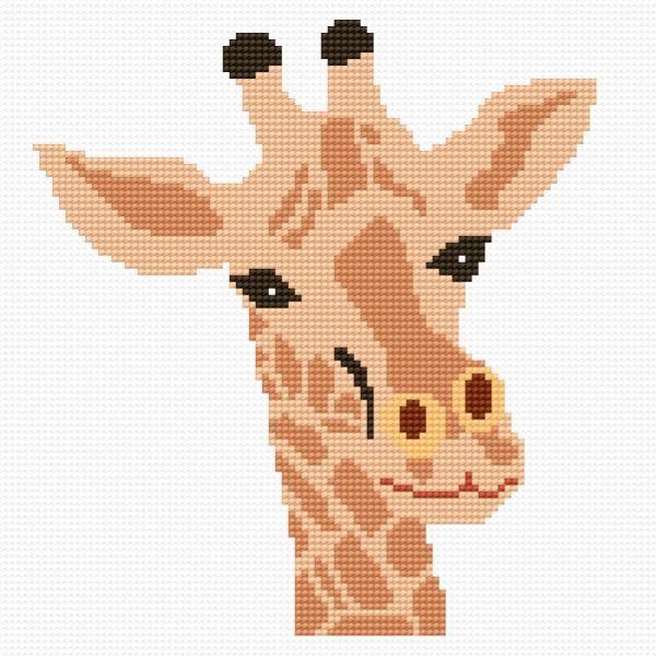 Giraffe (zoo, safari, animal, for children)