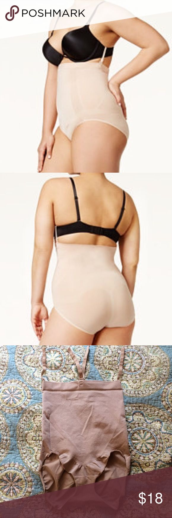 Spanx 1X Extra Firm Control Oncore High Waisted Worn Once, Spanx 1X Extra Firm Control Oncore High Waisted Brief.  These lightweight ultra comfortable high waisted briefs with removal bra straps from Spanx smooths and slims your figure. SPANX Intimates & Sleepwear Shapewear