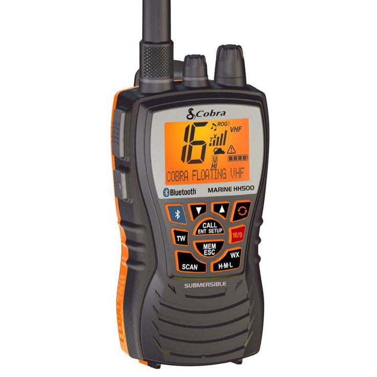 Cobra mr hh500 flt bt floating handheld vhf radio w