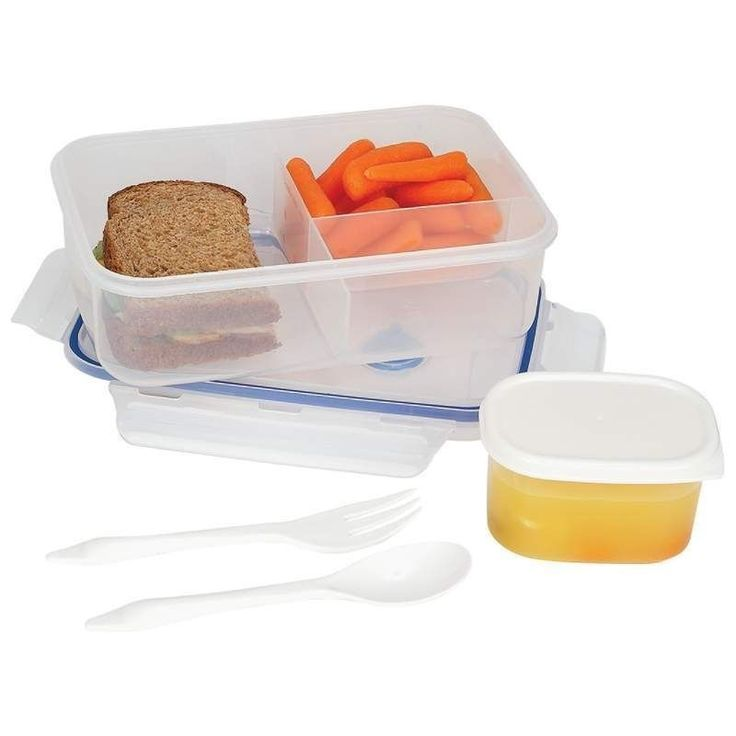 Lacuisine 34Oz Locking Divided Lunch Container Microwave & Dishwasher Safe !