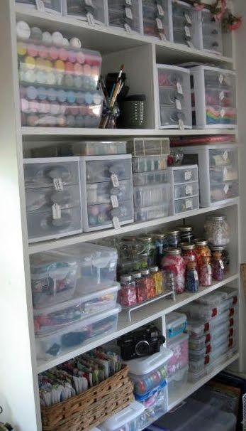 craft room with great organization