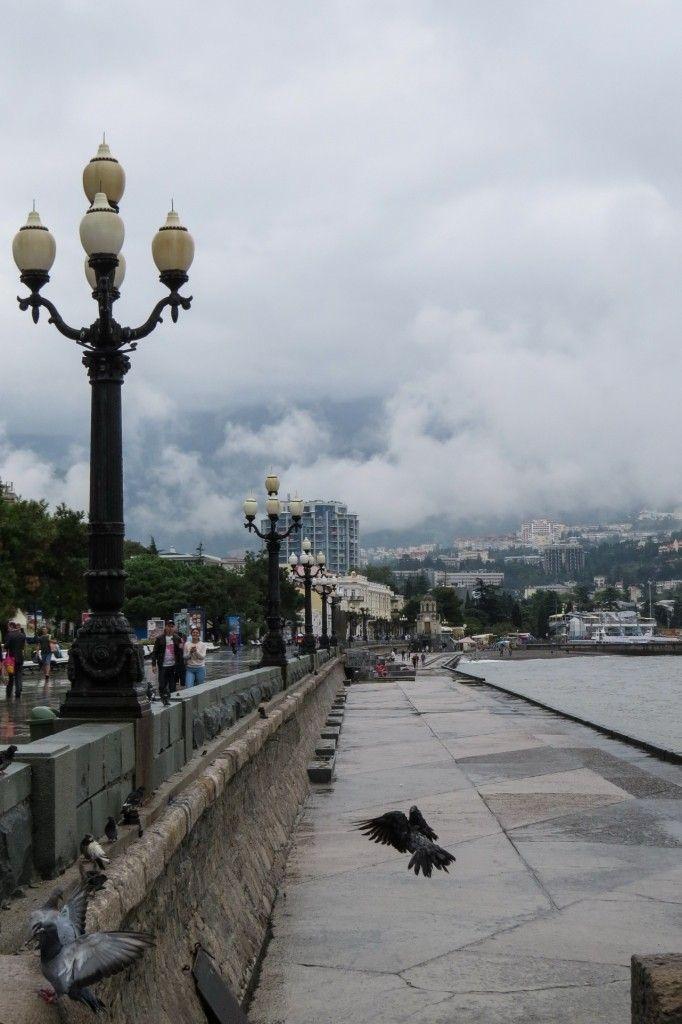 Ялта, Крым, набережная, дождь. Crimea