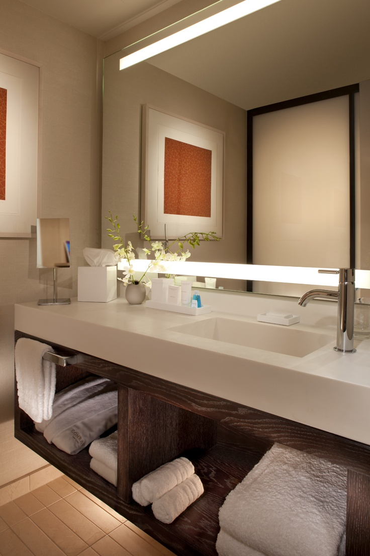 Bathroom vanities nyc - Find This Pin And More On An Organized Bath Conrad New York Deluxe Suite Bathroom Vanity