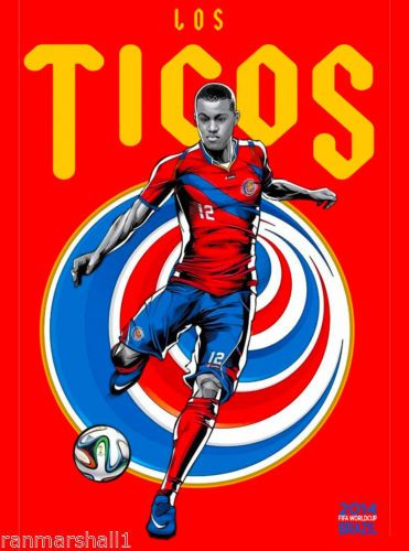 2014-FIFA-World-Cup-Soccer-Costa-Rica-Brazil-Sports-Travel-Advertisement-Poster