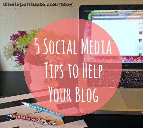 5+social+media+tips 5 Social Media Tips to Help Your Blog  #tips #socialmedia #marketing   For social media services, check out http://www.buyrealmarketing.com/