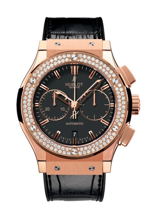 Classic Fusion King Gold Diamonds Chronograph watch from Hublot