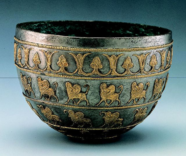 Achaemenid Silver Bowl with Gold Inlay | Flickr - Photo Sharing!