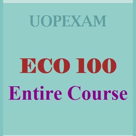 ECO 100 Entire Course