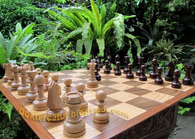 http://doktercatur.blogspot.com wooden chess; handmade from central java