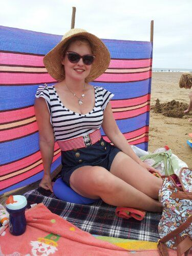 OOTD ~ Carry On Paddling! Jane Norman, Playsuit, Accessorize, Woolacombe, camping, beach, blog, Pin up