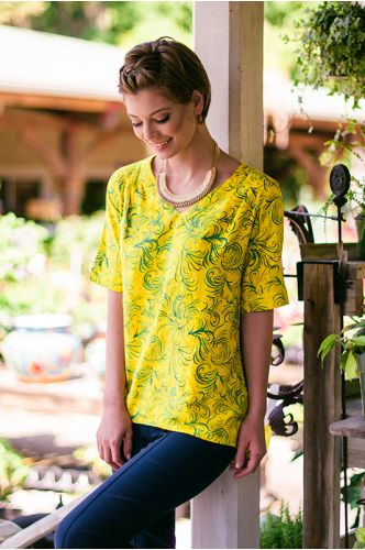 Marseille Yellow Batik Tunic | Indonesia | shopgofish.com