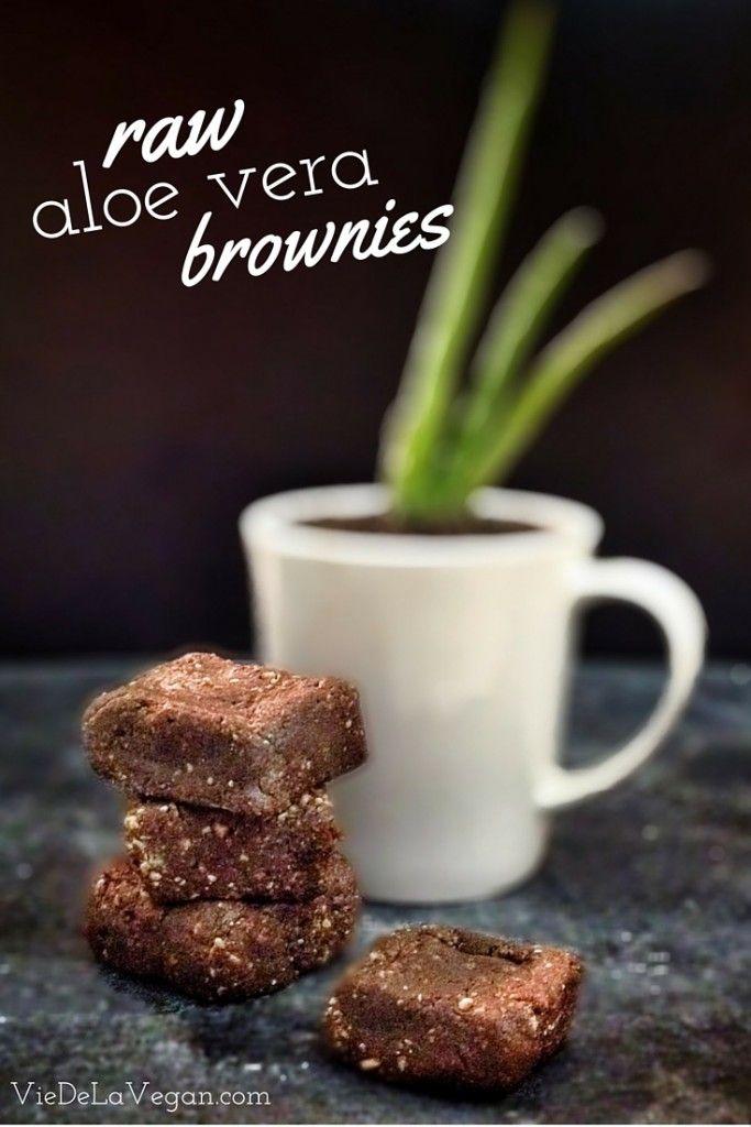 raw aloe vera brownies | vegan, nut-free, gluten-free
