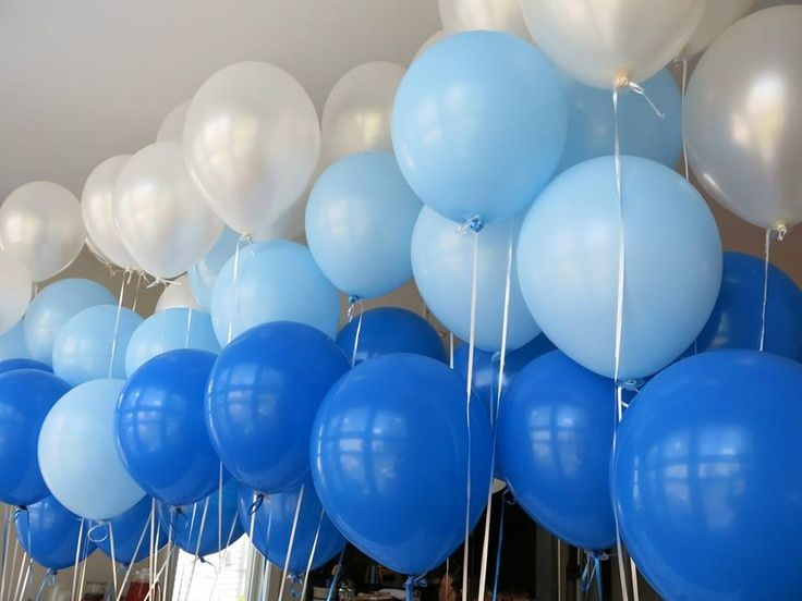blue ombre balloons - Google Search
