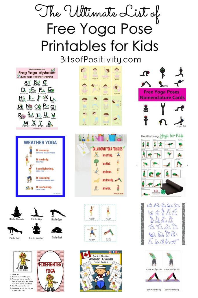 The Ultimate List Of Free Yoga Pose Printables For Kids Mindfulness Resources Mindfulness For Kids Yoga For Kids Kids Yoga Poses Printable
