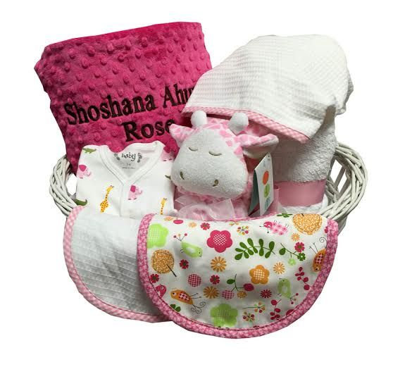 71 best baby gift baskets images on pinterest baby gift baskets deluxe personalized baby girl basket hot pink sassy negle Image collections