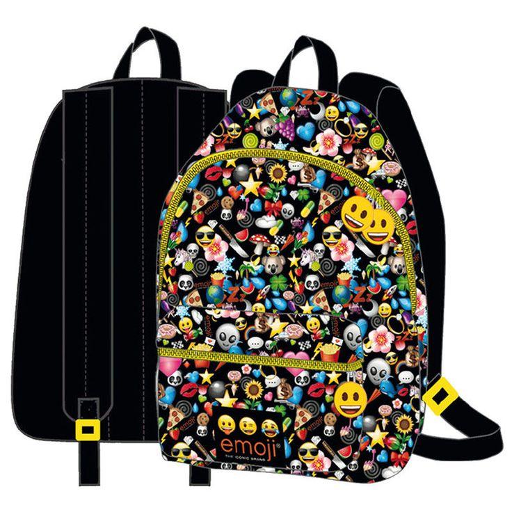 Ryggsäck Emoji svart (40cm)