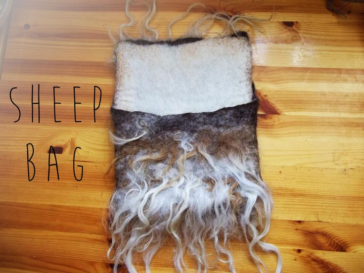 It is a bag made out of different kinds of sheepswool