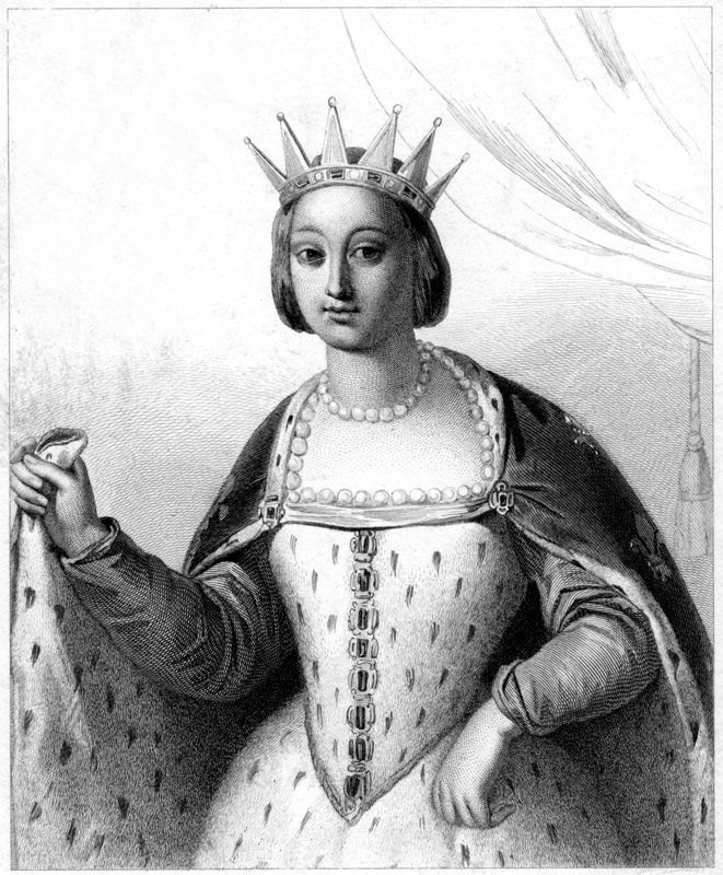 Margaret of Provence 23rd gg Tenure  27 May 1234 – 25 August 1270 queen of France Issue among others...  Isabella, Queen of Navarre Louis of France Philip III of France John Tristan, Count of Valois Peter, Count of Perche Blanche, Infanta of Castile Margaret, Duchess of Brabant Robert, Count of Clermont Agnes, Duchess of Burgundy Father  Ramon Berenguer IV, Count of Provence Died  December 20, 1295, Paris, France Spouse  Louis IX of France (m. 1234–1270)
