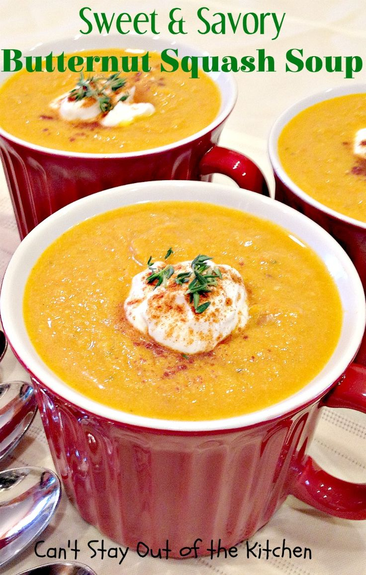 Sweet and Savory Butternut Squash Soup Recipe Savory