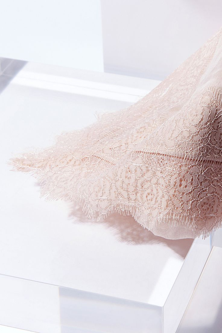 Womens blush ladder edge lace scarf from Coast - £35 at ClothingByColour.com
