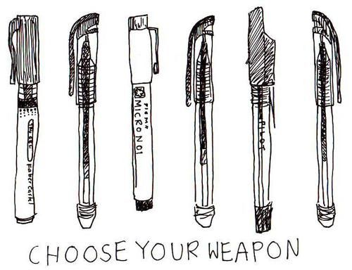 Image de pen, weapon, and drawing