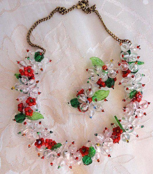 superbe старинный цветы листья бисером стекло ожерелье и серьги комплект. | Украшения и часы, Винтажные и антикварные украшения, Бижутерия | eBay!