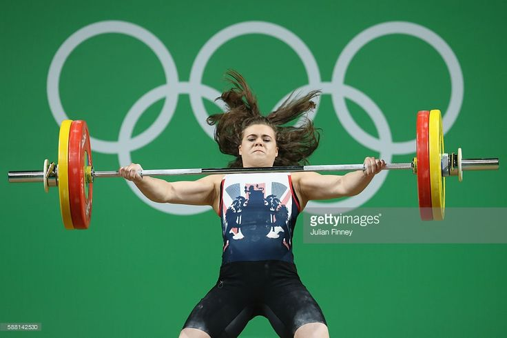 Rebekah Tiler of Great Britain lifts during the Women's 69kg Group B weightlifting contest on Day 5 of the Rio 2016 Olympic Games at Riocentro - Pavilion 2 on August 10, 2016 in Rio de Janeiro, Brazil.