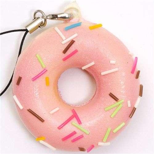 pink sprinkles donut squishy charm.  I don't know why but Im obsessed with donuts right now.  Must be the colors.  And the fun-ness.