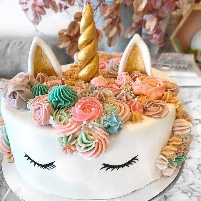 einhorn torte selber machen ideen kindergeburtstag