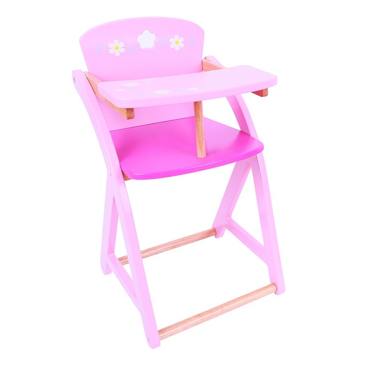 Here's the perfect item for inseparable companions to share meal and play times together! Beautifully crafted and finished in pink pastel tones, this high chair will encourage creative role play sessions and inspire the imagination. Ages 3 years and up. 1 play piece. COMING SOON!