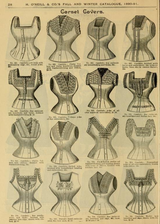 Fall and Winter, 1890-91 Fashion Catalogue - Pretty Corset Covers