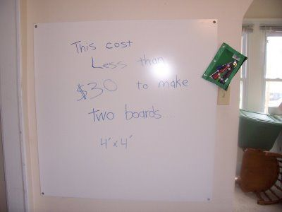 DIY dry erase board - can frame out & use tapes to create a calendar/notes board for above my desk