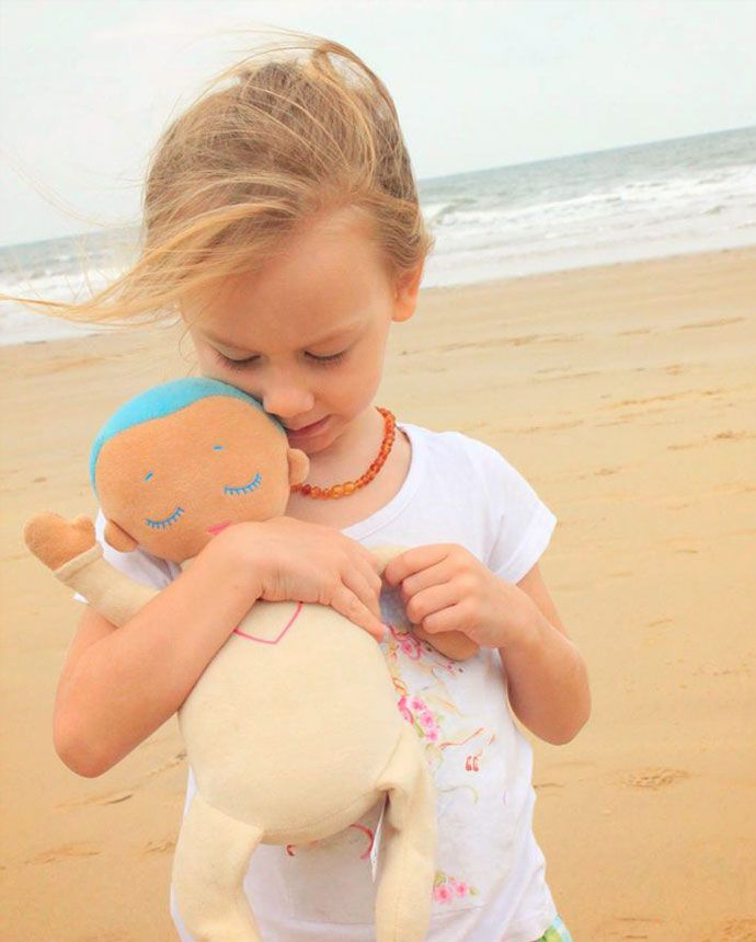 Lulla doll....with real heartbeat/breath sounds to help babies and kids sleep comfortably