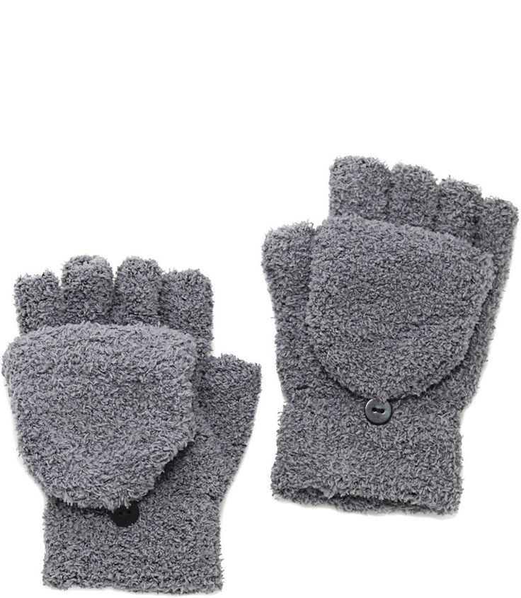 CONVERTIBLE MITTENS IN GRAY $14.99 CAD