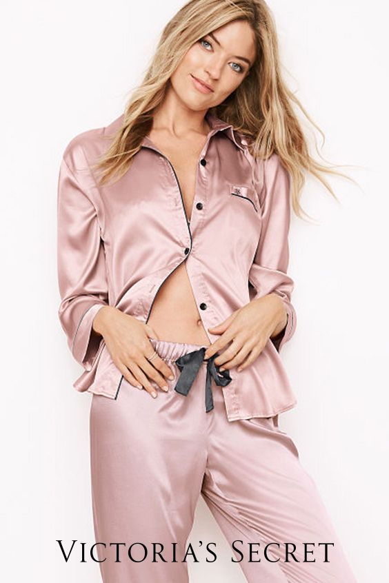 What everyone's dreaming of: satin PJ's. | Victoria's Secret