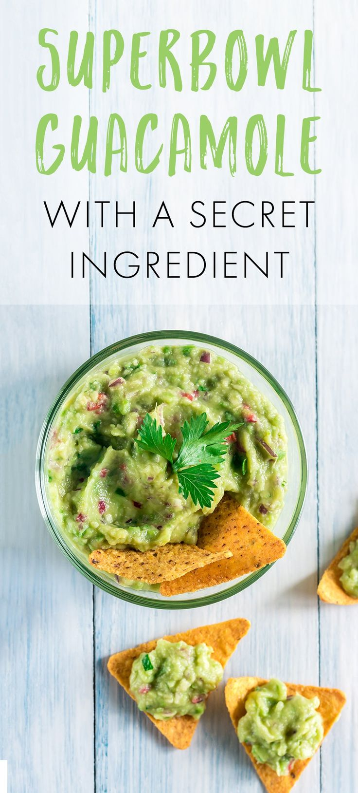 Whether you're hosting or you're invited to a Super Bowl party next weekend, you can't go wrong with a great guacamole. Here's our recipe with a little twist.