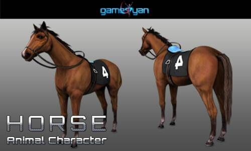 3D Horse Animal Character Animation