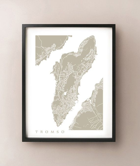 Tromso, Norway Map by CartoCreative