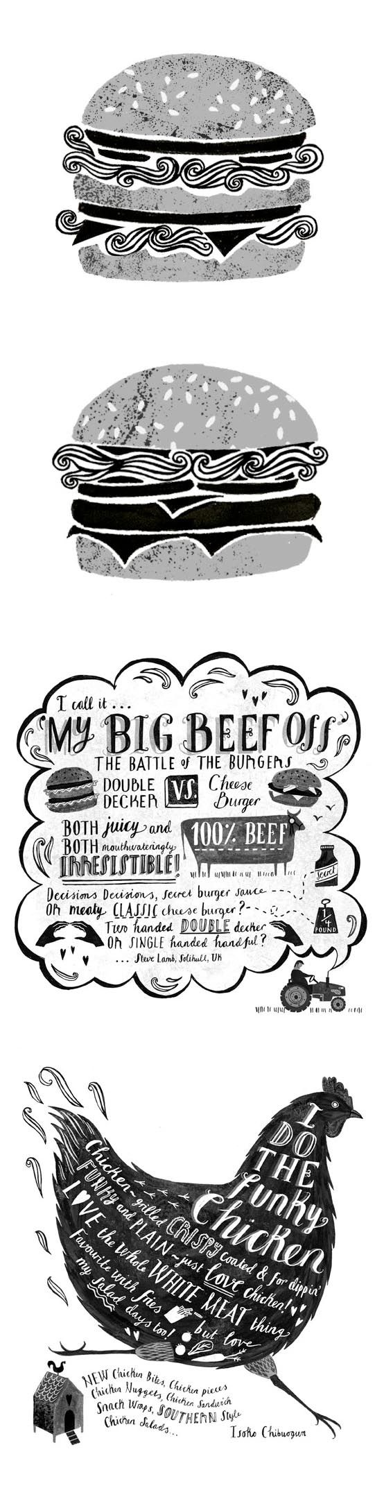 2 all beef patties-- special type and a chicken too! Sara Mulvanny | so cute!