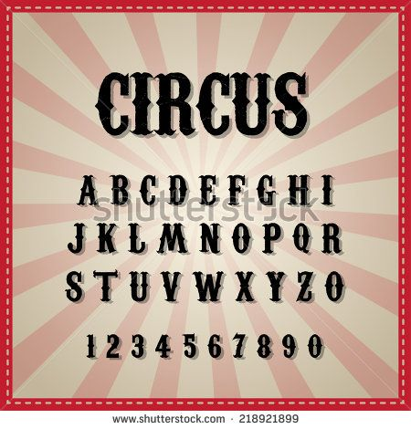 Vintage circus font