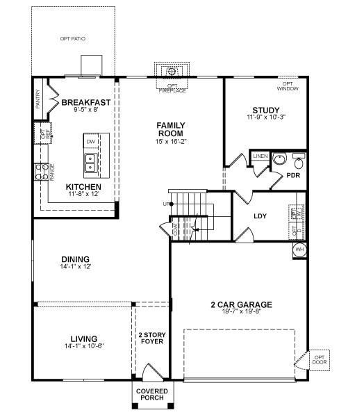 Beazer homes beaver dam parker floor plan dream home for Beazer homes floor plans