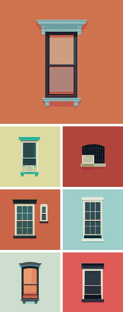 The 25 best vector design ideas on pinterest flat for Window design vector