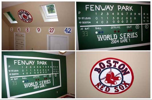 17 best images about conner 39 s room on pinterest boston for Baseball scoreboard wall mural